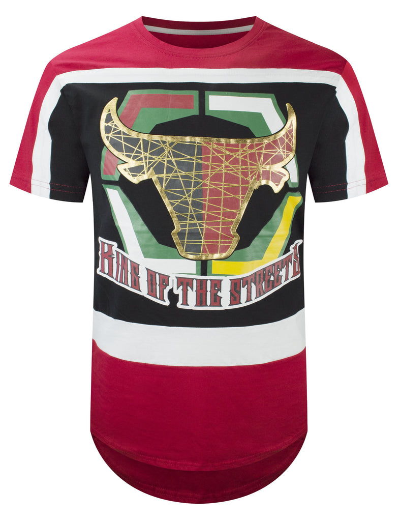 Mens King Of The Streets printed bulls Crewneck Graphic
