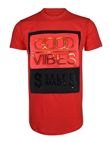 GOOD VIBES SELF MADE  Front Zipper METALLIC