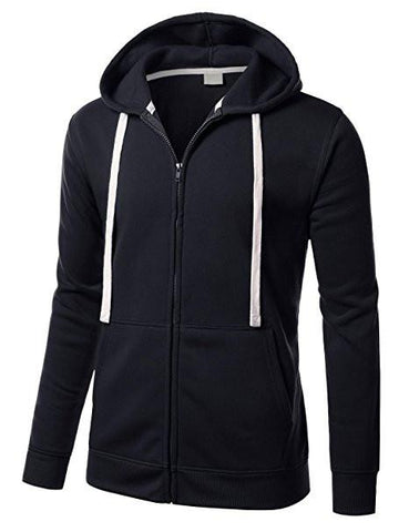 Plain Fleece zip up Hoodie