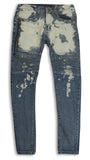 Stretch Ripped ZIPPER wash denim Jeans