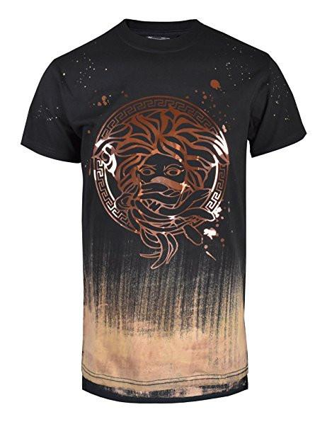 Graphic Print look medusa foil Casual Fashion Top