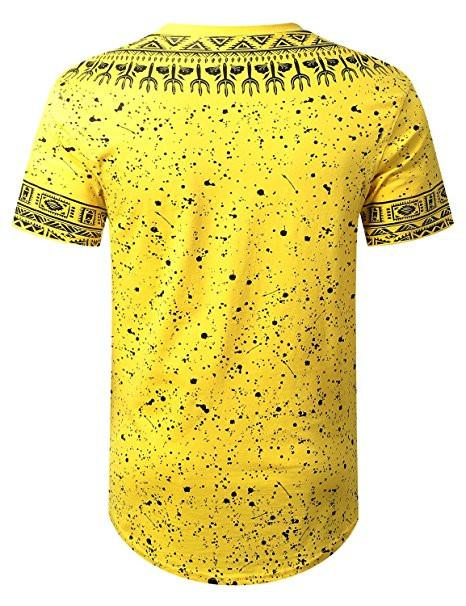 Mens Hipster Hip Hop African Dashiki Graphic Top Shirts