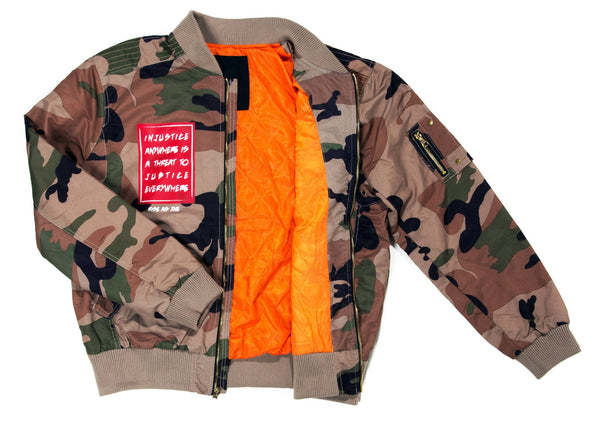 Black History MLK Flight Jacket