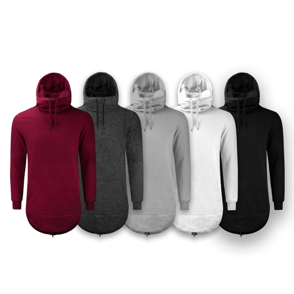 LIMITED EDITION Elongated Hoodie Pullover Sweater BACK Zipper