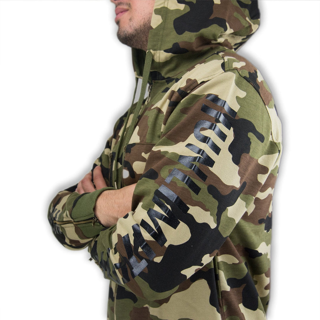 Extended Fishtail Zippered Parka