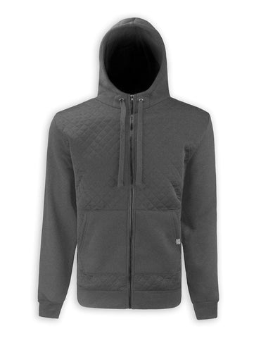 quilted zip up Hoodie