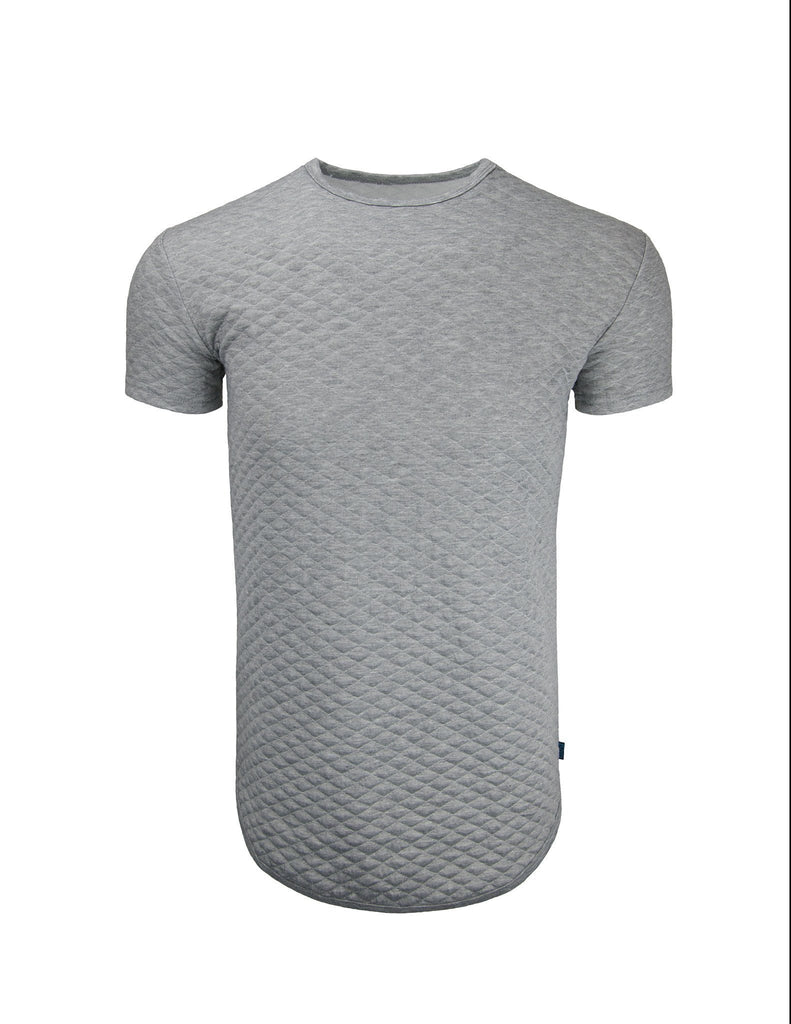 Mens Quilted Round Hem Crewneck (More Colors Available)