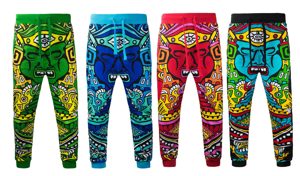 Mens POP MAYAN  Drawstring Joggers