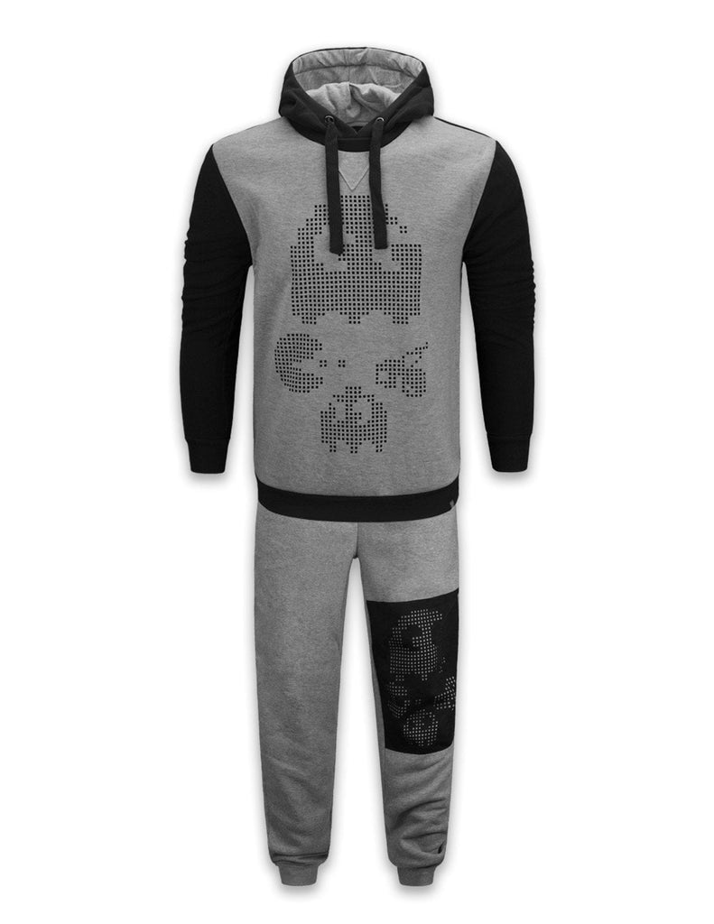 NEW Men PACMAN Fleece Sweatsuit Track Suit Joggers heavyweight