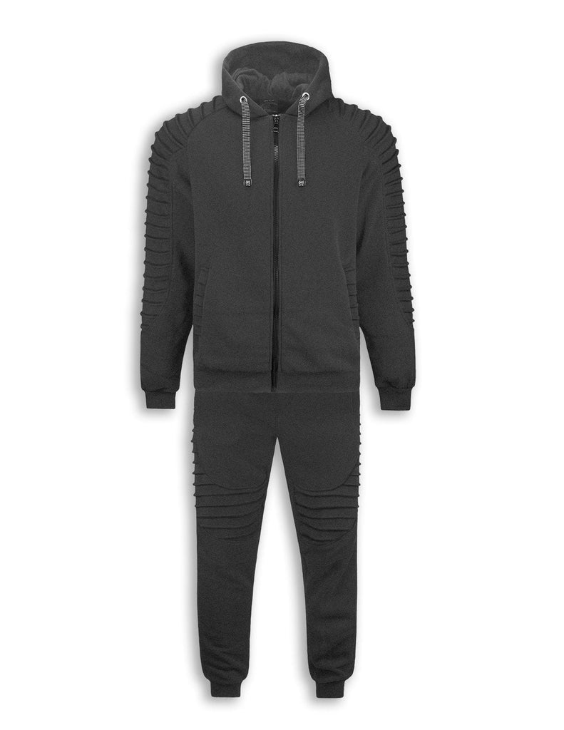 LIMITED EDITION Men biker Fleece Sweatsuit Track Suit Joggers heavyweight