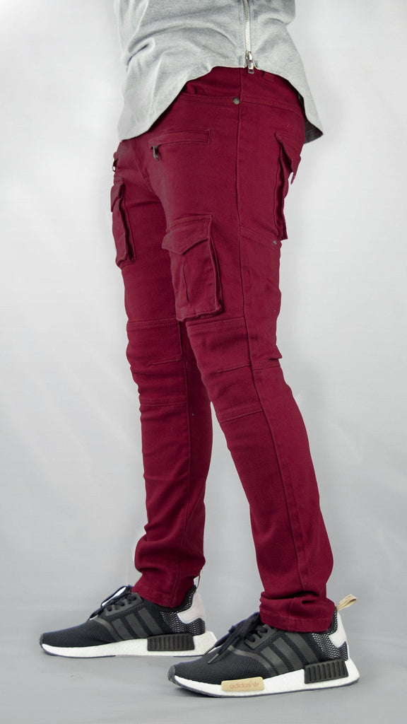 MENS JEANS FRONT ZIPPER CARGO POCKET