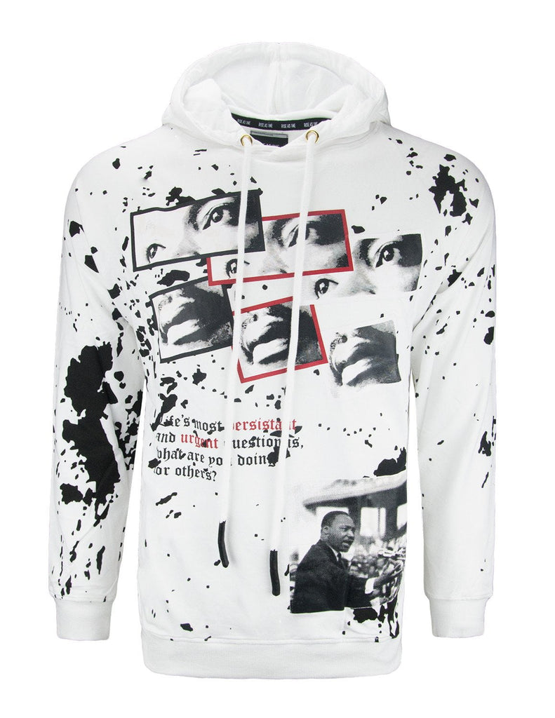 MLK Stride Toward Freedom Long Sleeve Hoodie/Black
