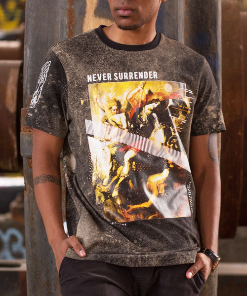 Never Surrender Elongated Tee