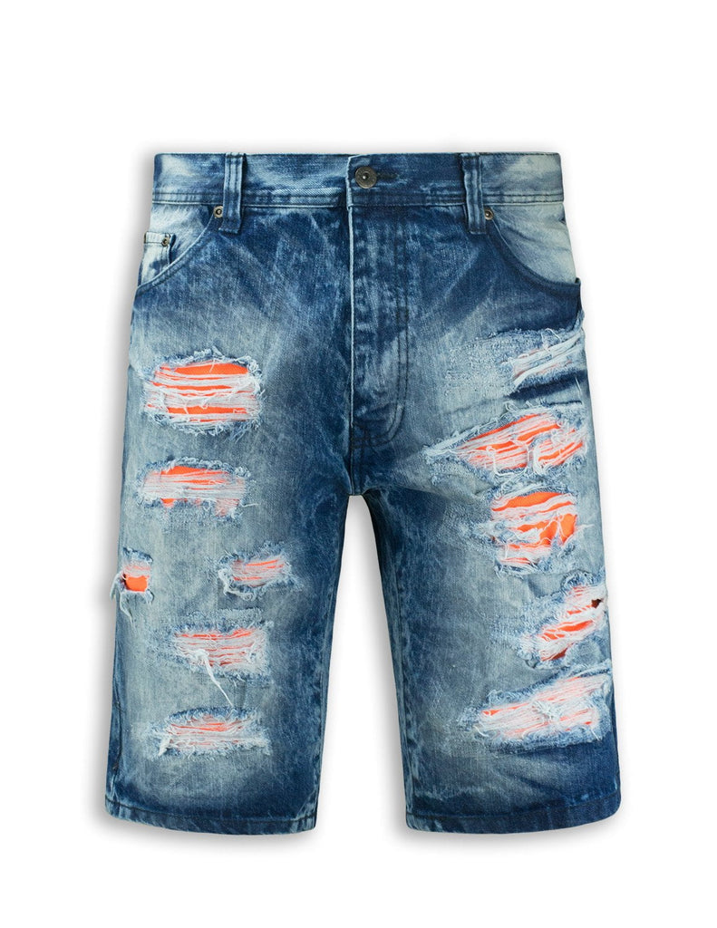 Ripped Denim Jeans Shorts Fray Distressed Fashion