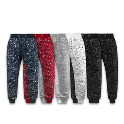 Mens SPLATTER Print Hipster Hip Hop Graphic Print jogger french terry