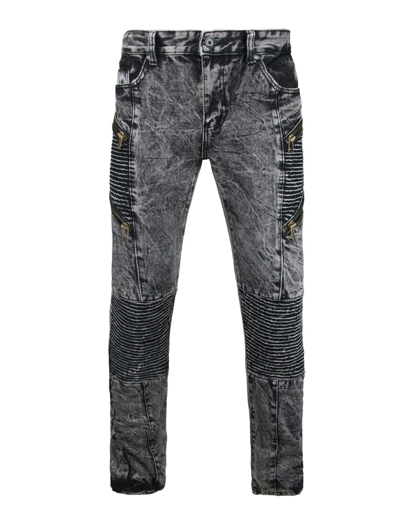 TN Destroyed Motto Inspired Denim