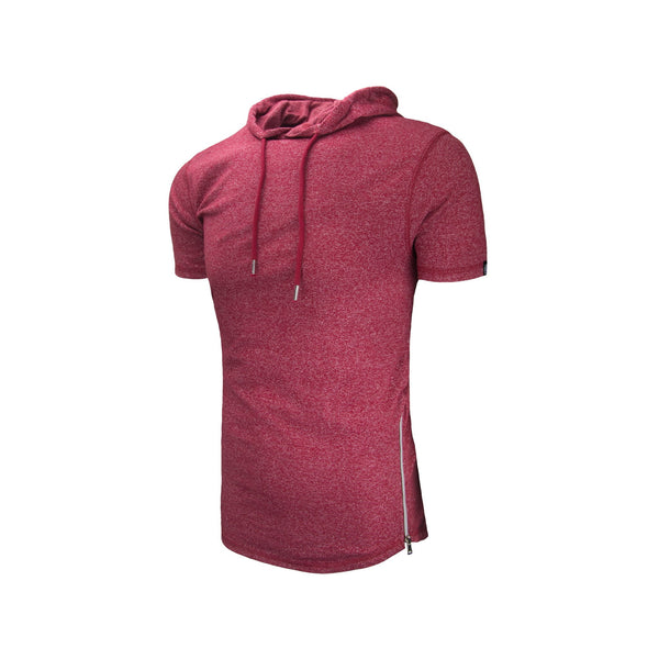 Hooded Longline Short Sleeve Shirt (More Colors Available)