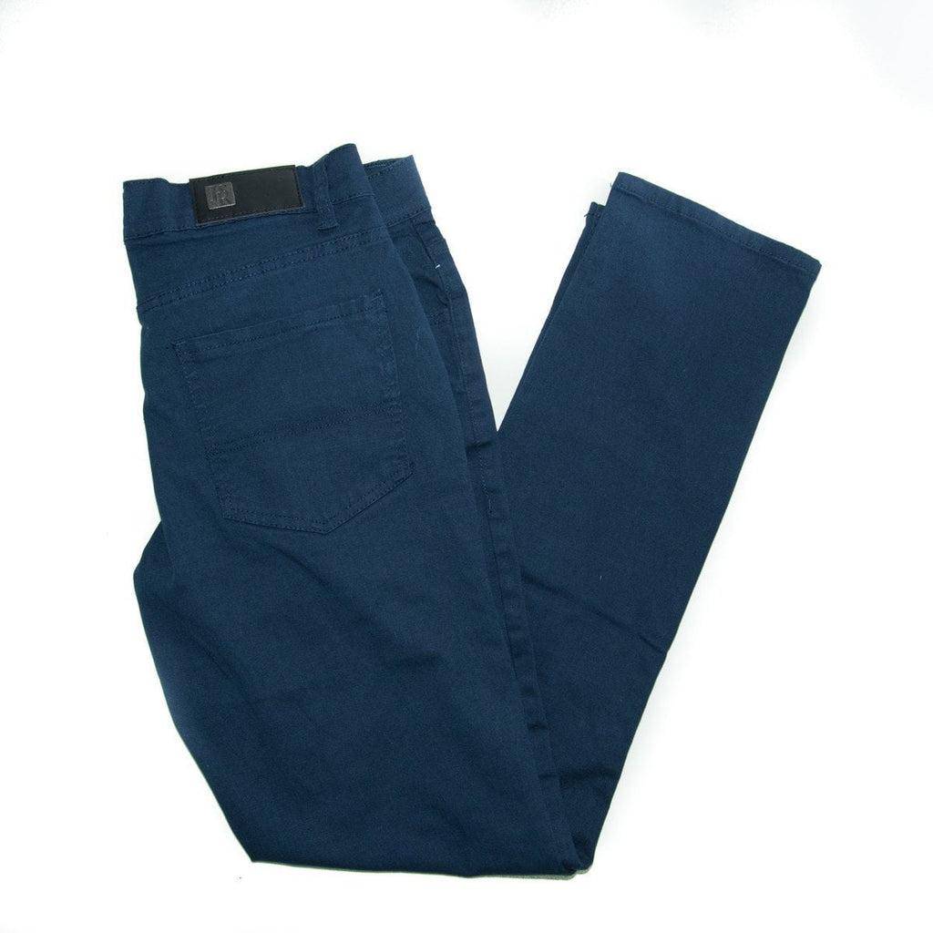 Men's Stretch BASIC Twill Solid Slim Fit Pants