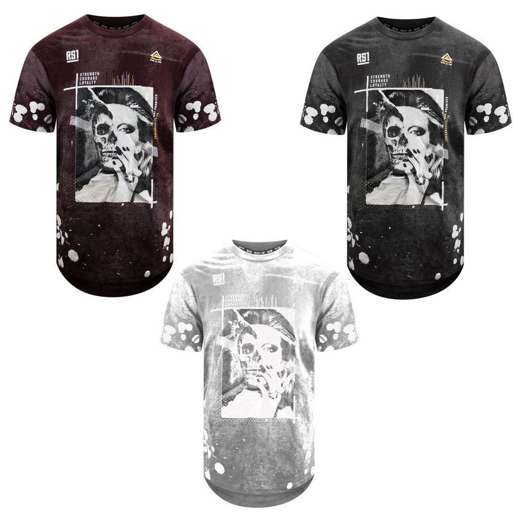 Graphic Print skull splatter Casual Fashion Top