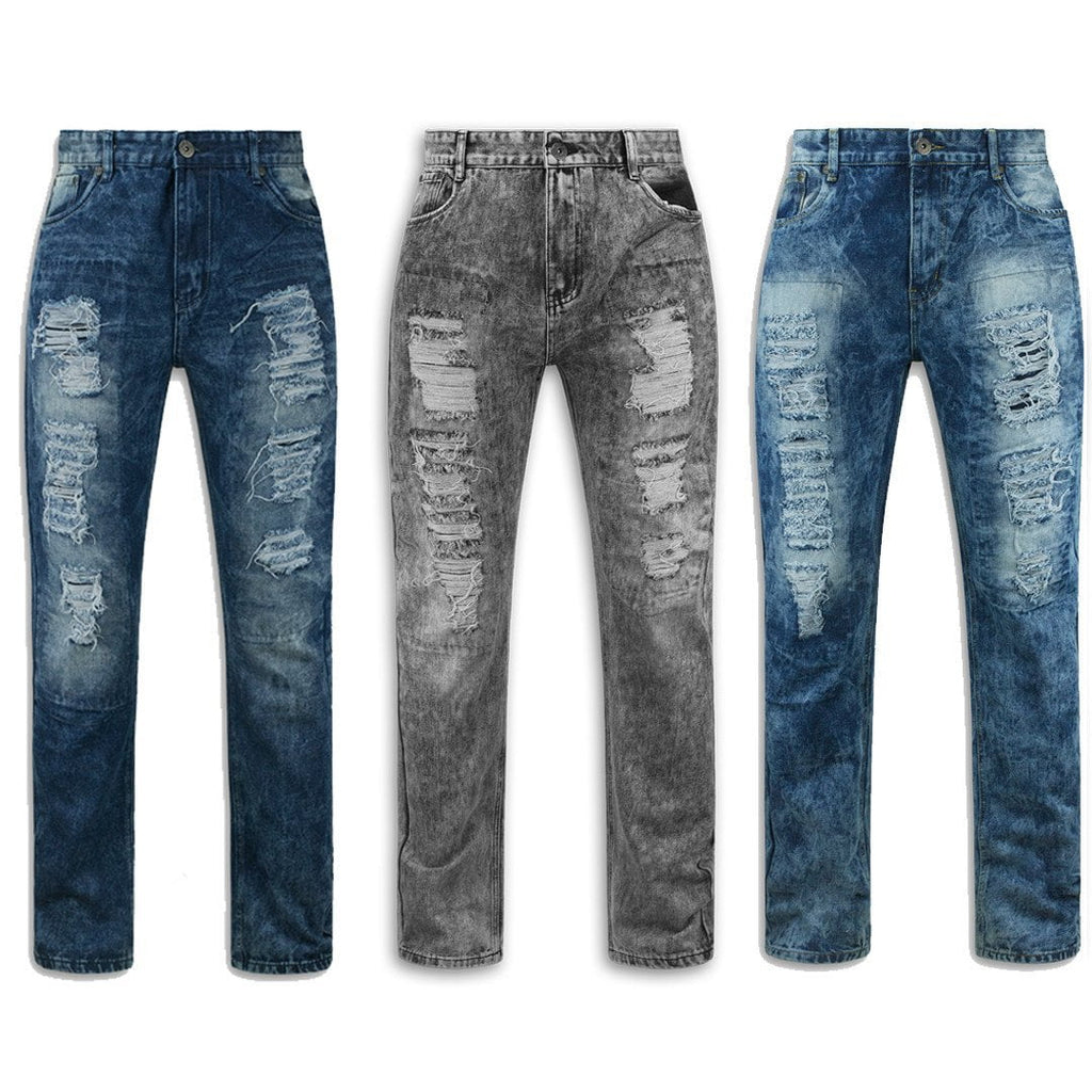 Distressed Biker ripped slim fit Jeans REPAIR 8