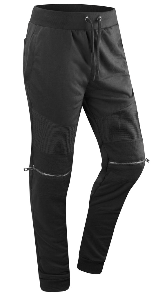 99fc56a5 Mens french terry Biker Zipper joggers pants