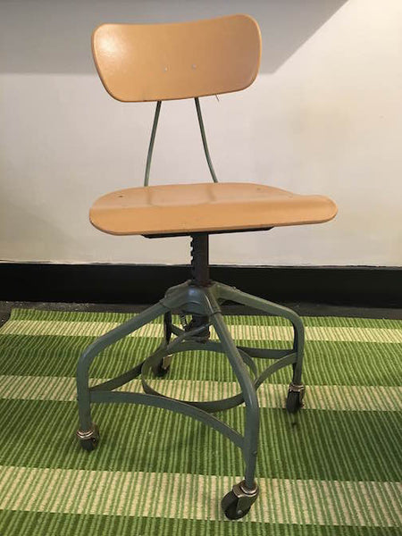 Vintage Swivel School Chairs