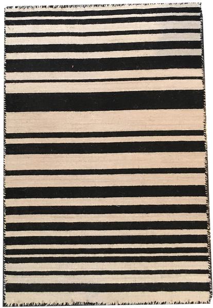 Dhurrie Rug | Black + White