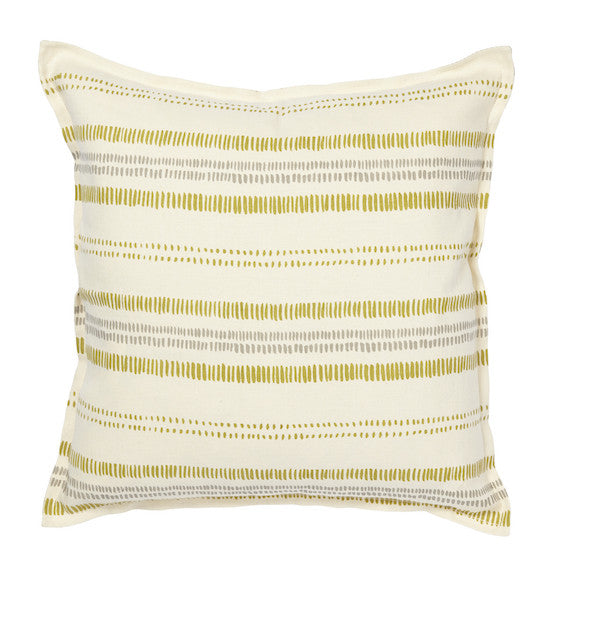 Railroad Pillow | Grey + Citron