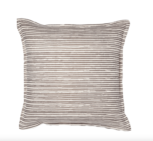 Pencil Lined Grey Pillow