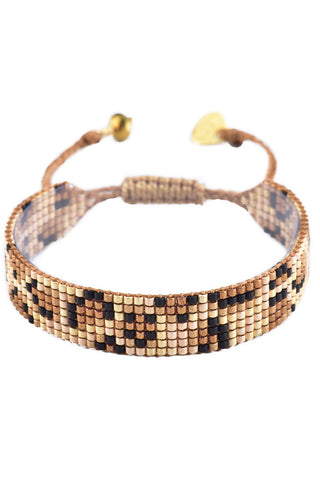 Mishky Tan Panthera Handmade Glass Beaded Bracelet