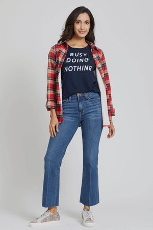 Retro Brand Busy Doing Nothing Graphic Tee