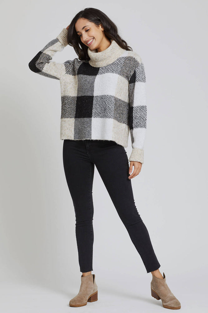 RD Style Plaid Turtleneck Sweater