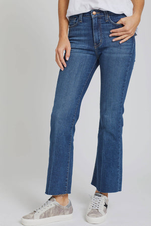 Load image into Gallery viewer, LTJ Crop Kick Flare Jeans