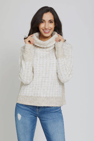 RD Style Houndstooth Turtleneck Sweater