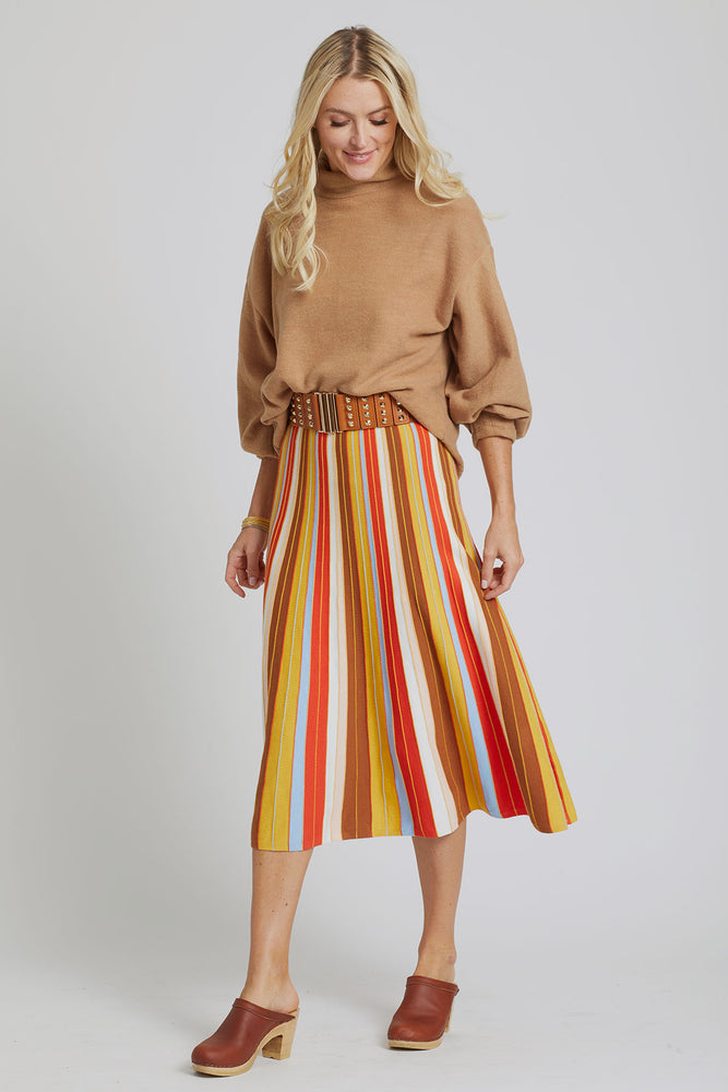 Lucy Paris Striped Knit Skirt