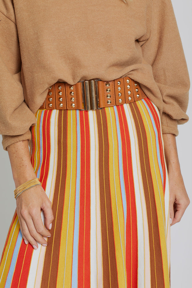 Load image into Gallery viewer, Lucy Paris Striped Knit Skirt