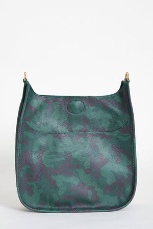 Camo Vegan Messenger Bag- STRAP NOT INCLUDED
