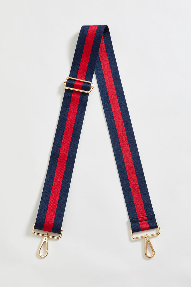 Navy/Red Stripe Bag Strap