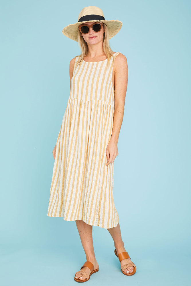 Grade and Gather Stripe Dress