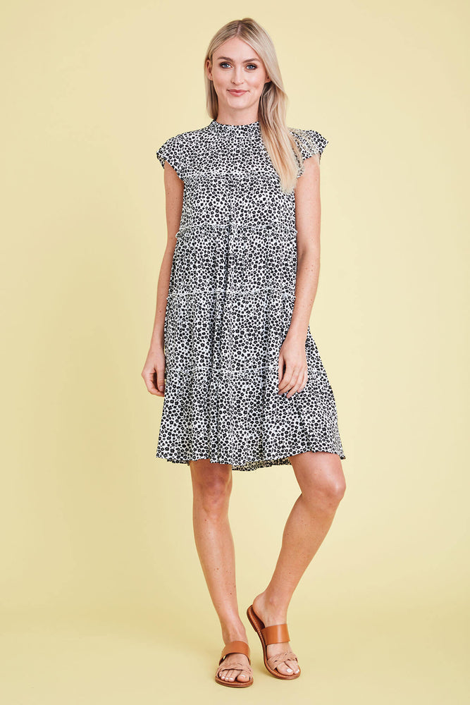 THML Flower Print Tiered Dress