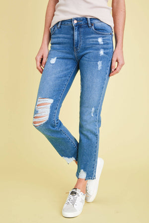 Load image into Gallery viewer, L.T.J. Siena Distressed High Rise Jeans