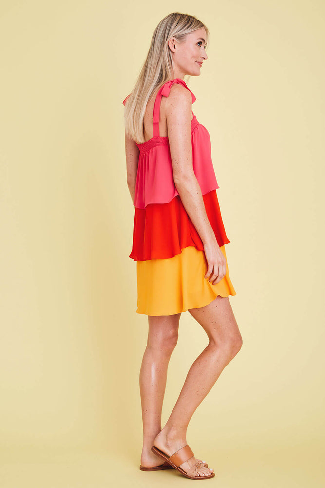 Sugarlips Colorblock Tiered Dress