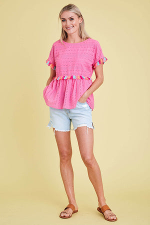 Andree By Unit Tassel Eyelet Top