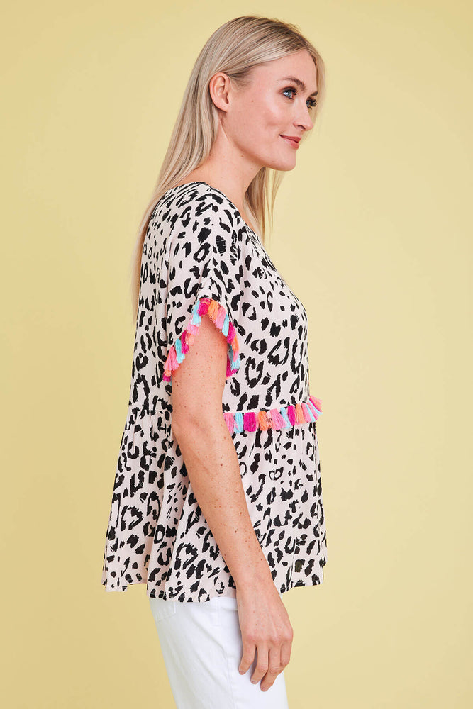 Andree By Unit Leopard Print Top