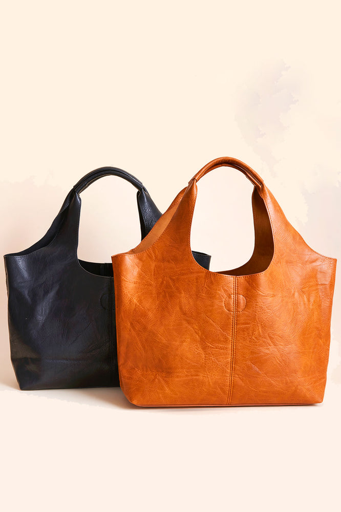 Vegan Leather Hobo Bag (comes with detachable insert small bag)