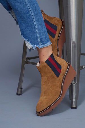Load image into Gallery viewer, Cecelia New York Gemma Wedge Suede Bootie