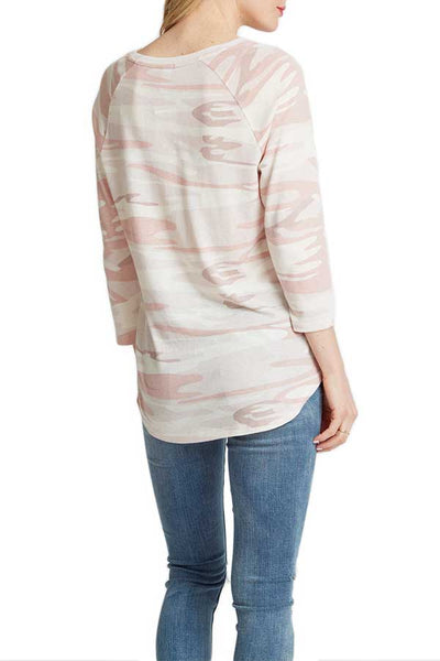 Alternative Apparel Blush Camo Baseball Tee