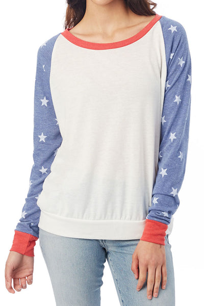 Alternative Apparel Star Baseball Sweatshirt