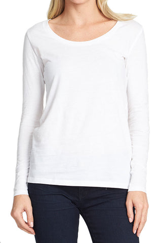Alternative Long Sleeve White Tee
