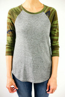 Alternative Apparel Camouflage Baseball Tee